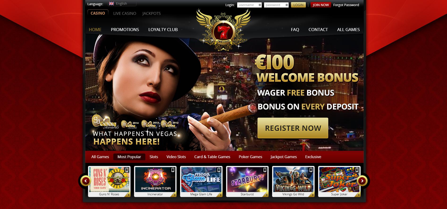 7red casino free slots