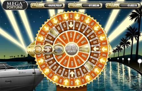 Mega Fortune slot Bonus Wheel - topsyslots review