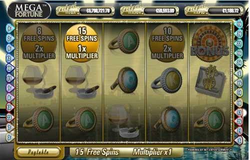Mega Fortune slot fs - topsyslots review