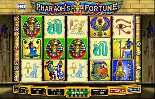 pharaoh's fortune slot free spins topsyslots